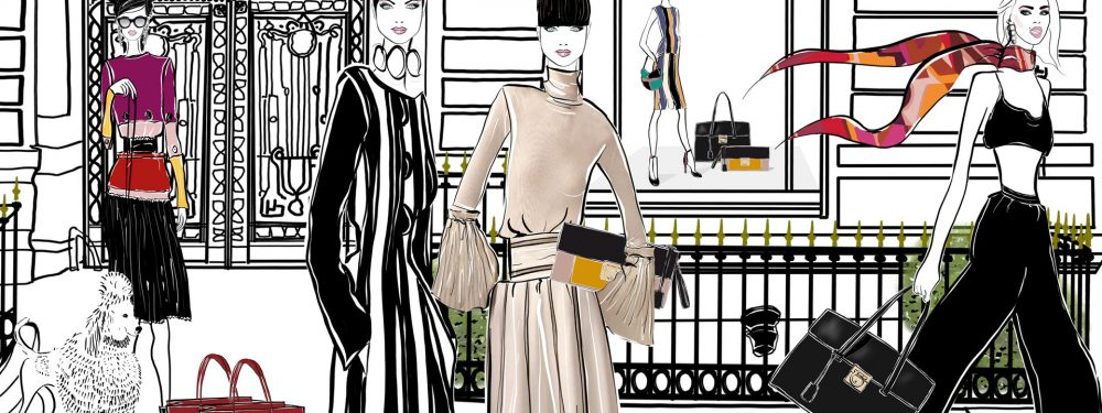 Ferragamo Paris Fashion Illustration