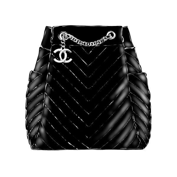 Chanel Bag Fashion Illustration