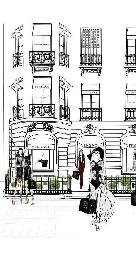 Versace Paris Fashion Illustration